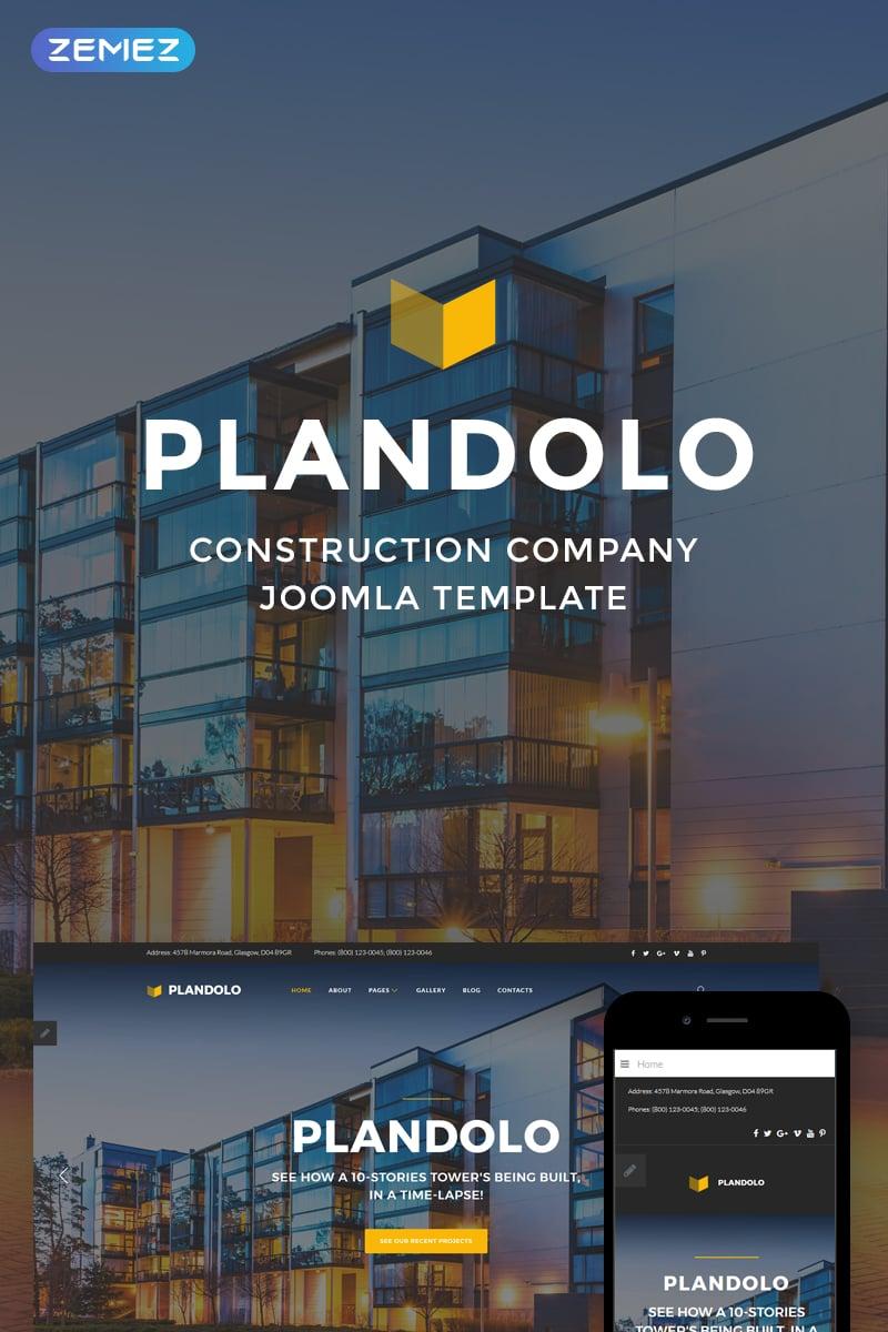 "Template Joomla Responsive #74545 ""Plandolo - Construction Company"""