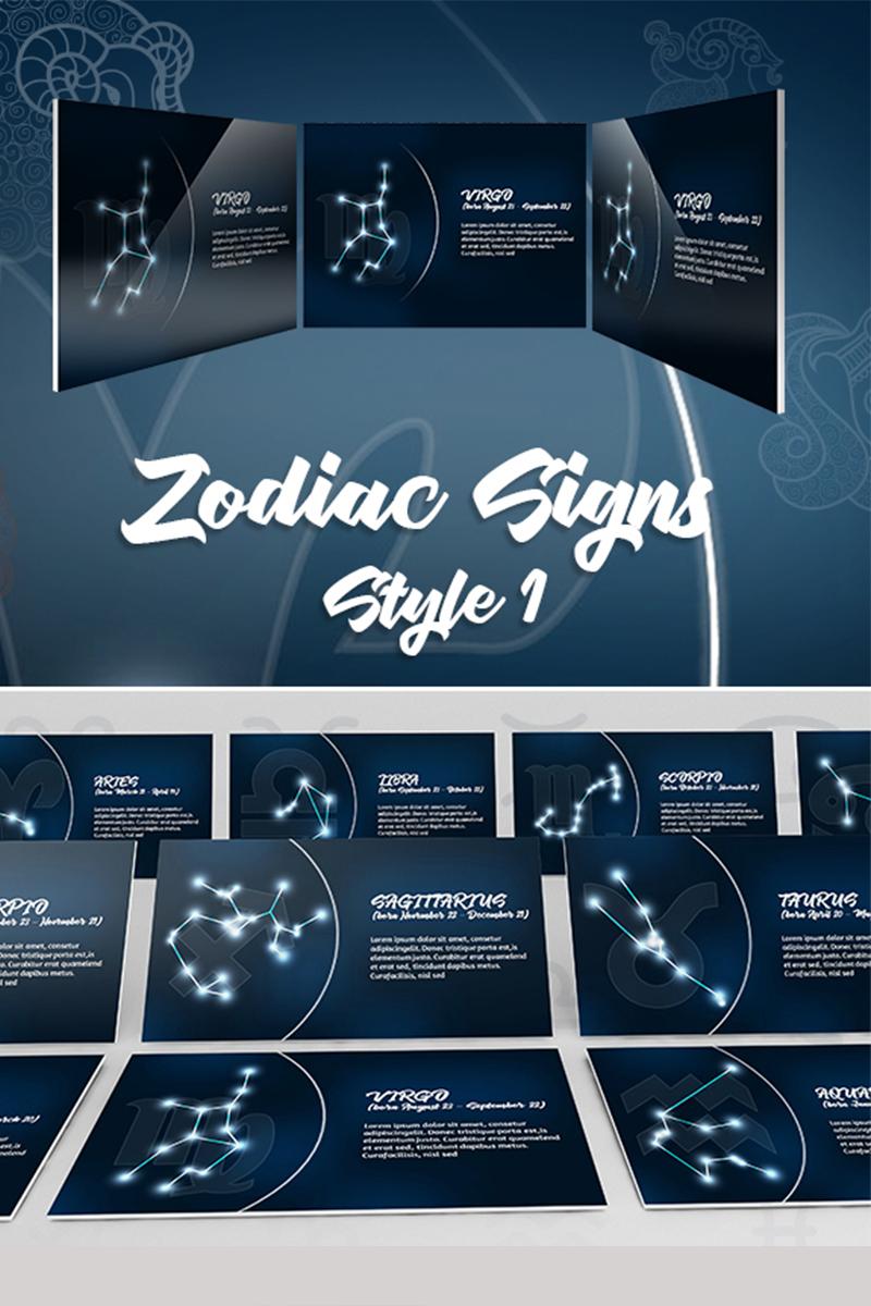 Zodiac Style 1st Template PowerPoint №74543