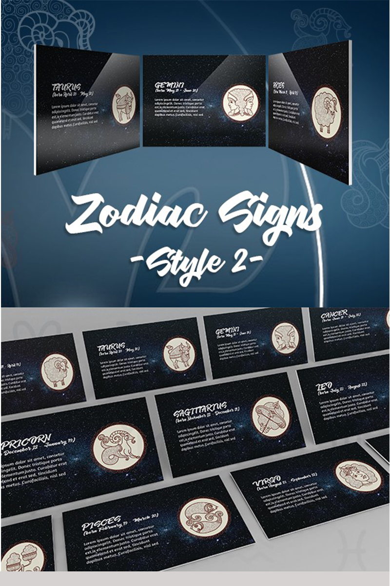 Zodiac Style 2nd Template PowerPoint №74546