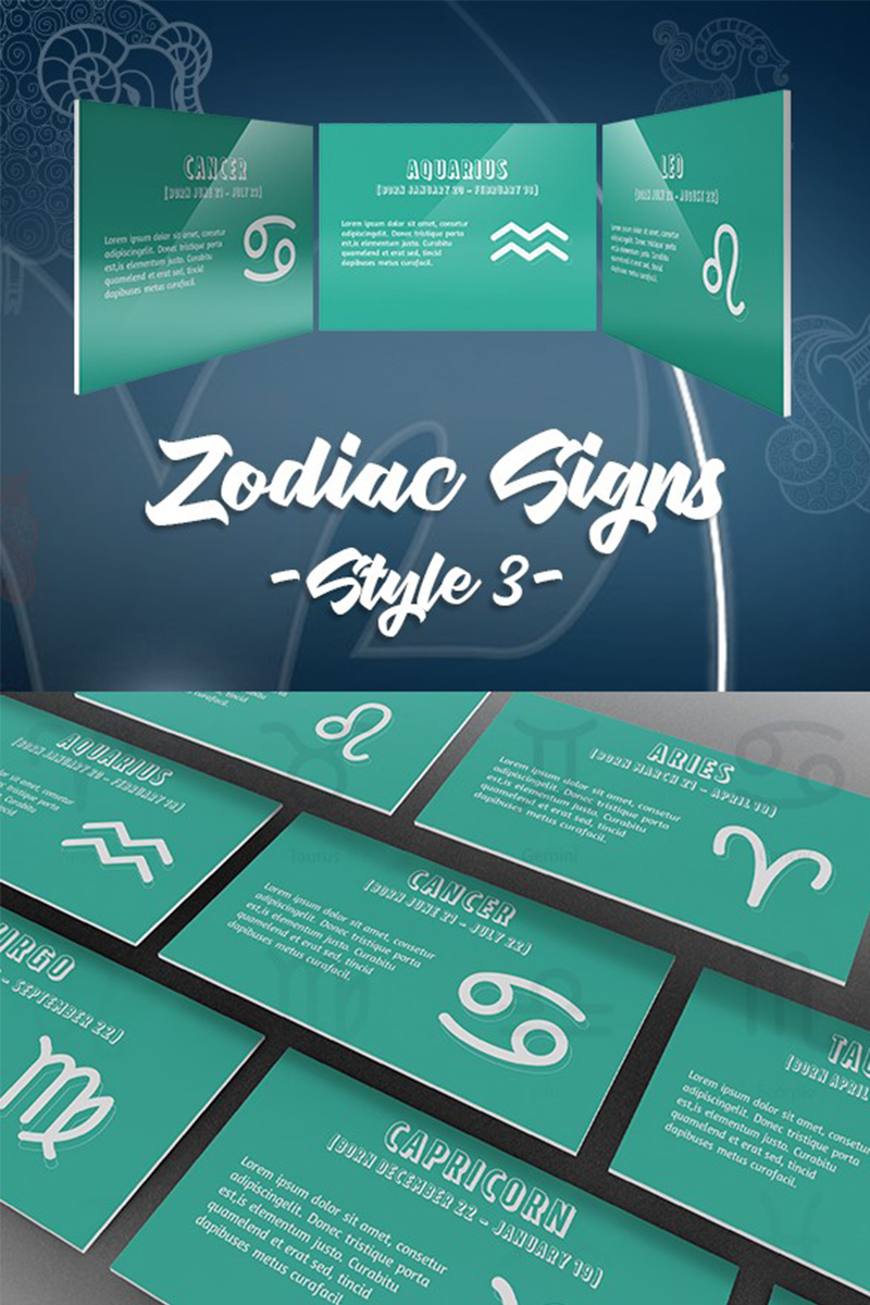 Zodiac Style 3rd Template PowerPoint №74549