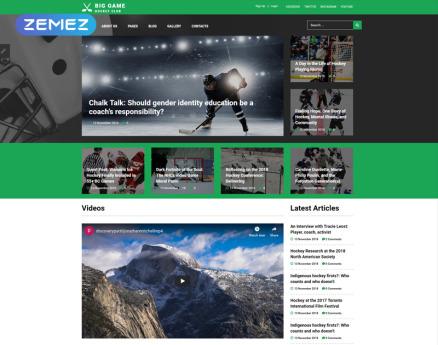 Big Game - Hockey Team Website Ready-To-Use Joomla Template