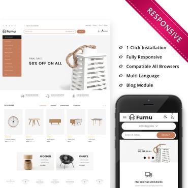 Купить  пофессиональные PrestaShop шаблоны. Купить шаблон #74648 и создать сайт.