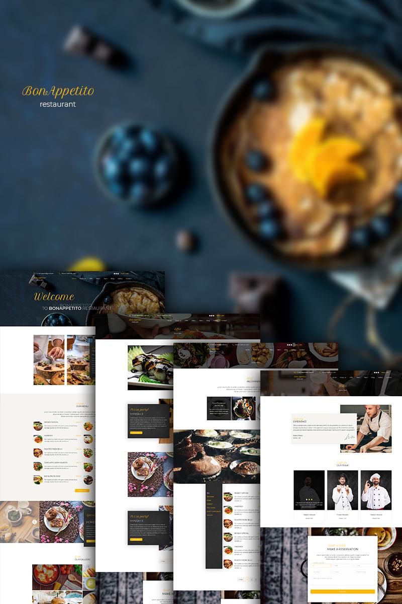 """BonAppetito Restaurant"" Responsive PSD Template №74654"
