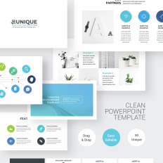 clean simple powerpoint template geology