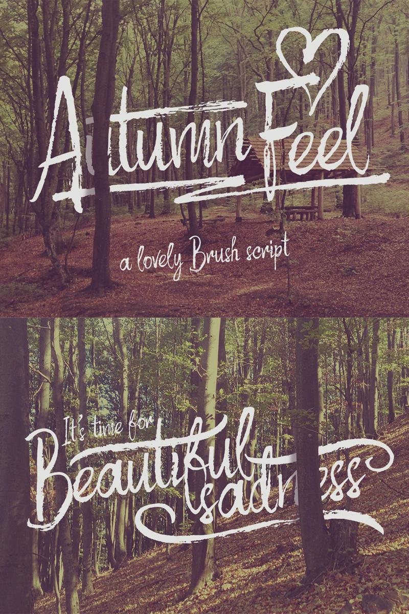 Font Autumn Feel #74656 - zrzut ekranu