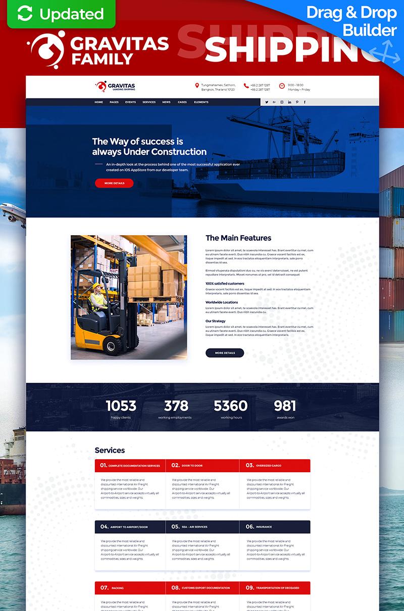 Gravitas - Shipping MotoCMS 3 Landing Page Template