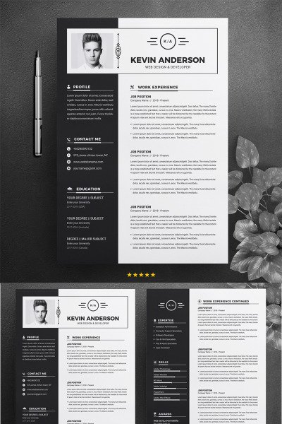 Kevin Anderson Resume Template #74619