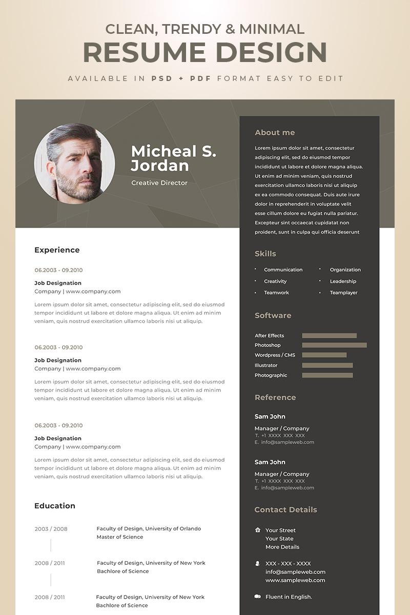 "Lebenslauf-Vorlage namens ""Creative Designer Professional"" #74633"