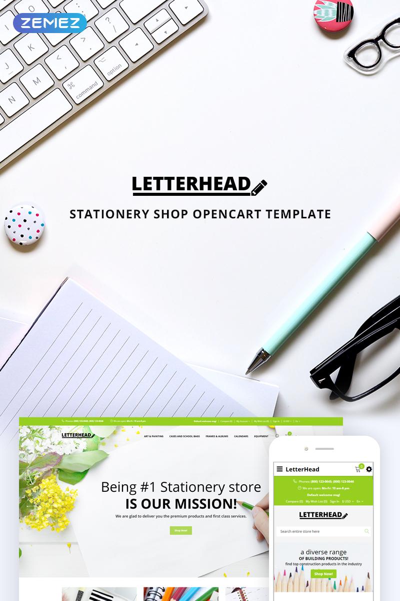 """Letterhead - Stationery"" - адаптивний OpenCart шаблон №74626"