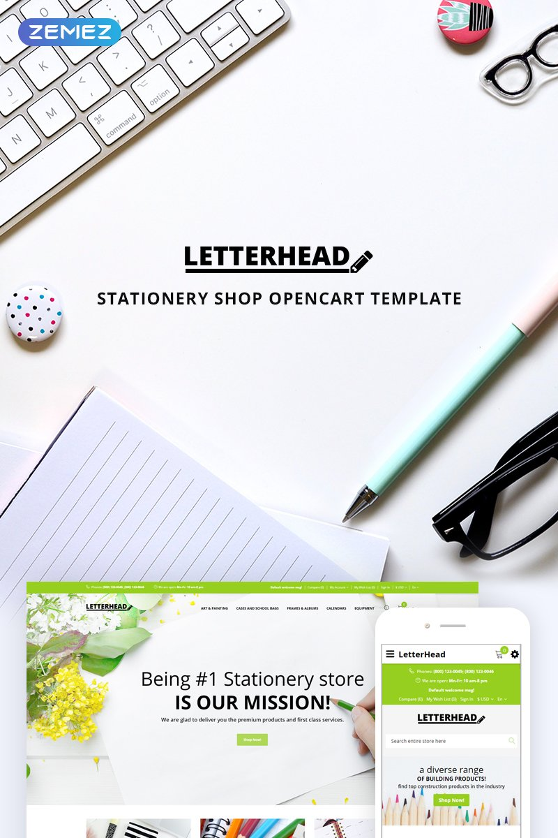 Letterhead - Stationery OpenCart Template