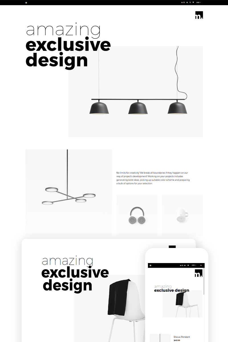 m - Furniture Store Ready-To-Use Shopify Theme