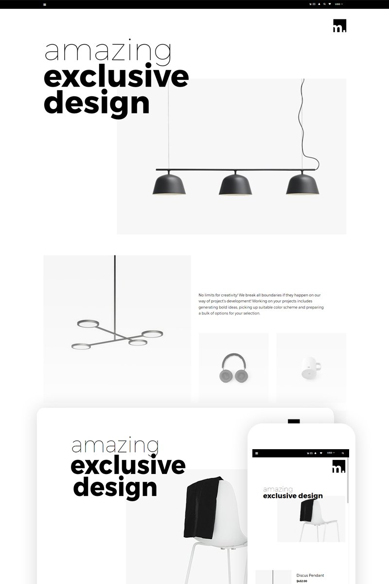 m - Furniture Store Ready-To-Use Tema de Shopify №74684