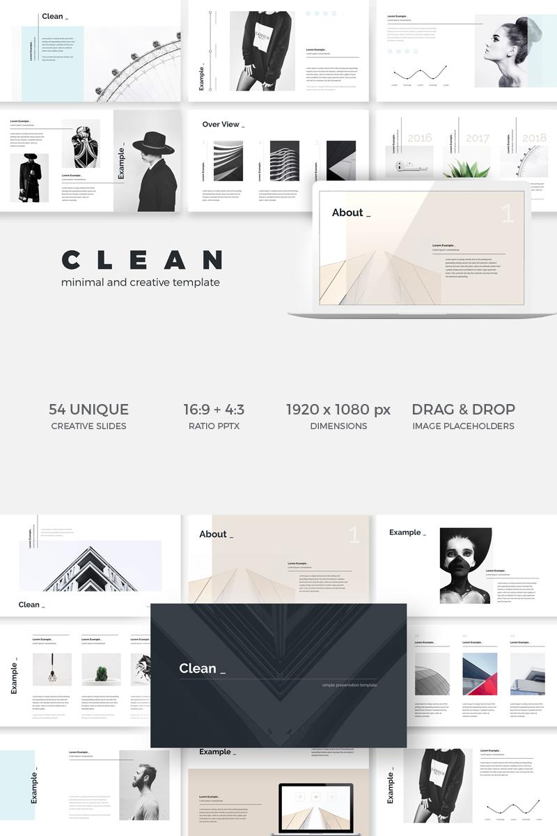 """Minimal Clean Creative"" modèle Keynote  #74615 - screenshot"