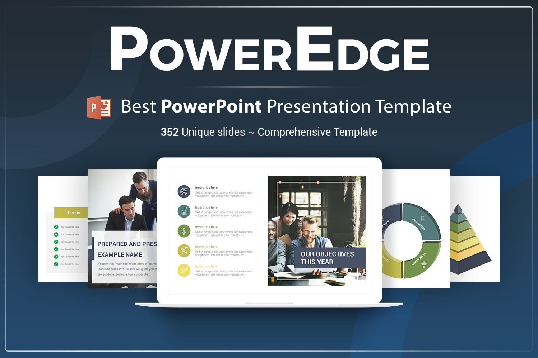 """""""Power Edge"""" modèle PowerPoint Premium #74688"""