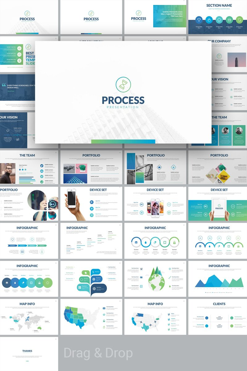 """Process - Multipurpose"" PowerPoint 模板 #74686"