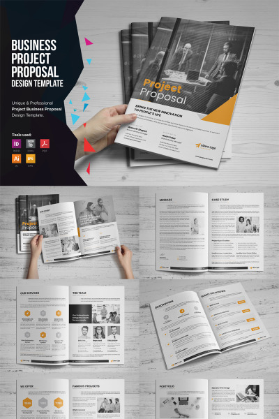 Project Business Proposal Design Corporate Identity Template #74607