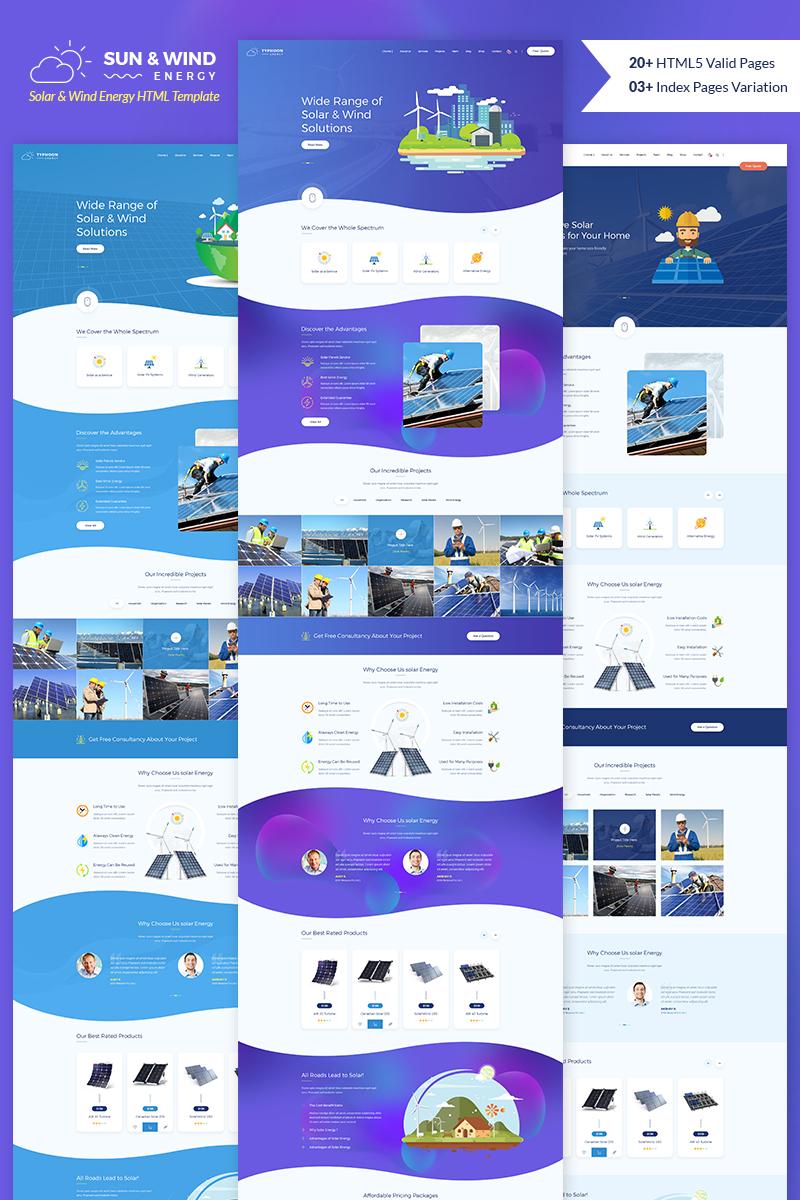 Responsywny szablon strony www Sun and Wind Energy HTML Template #74625