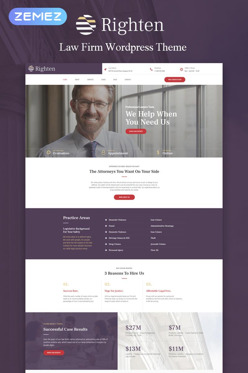 Righten - Advisory Elementor WordPress Theme