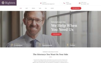 Righten - Advisory WordPress Elementor Theme