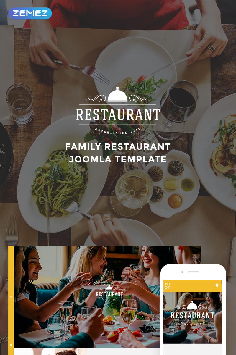 """ROOM - Gorgeous Restaurant"" 响应式Joomla模板 #74671"