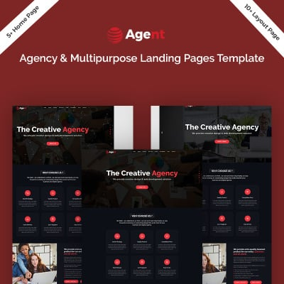 Flexível templates de Landing Page  №74775 para Sites de Agencia de marketing