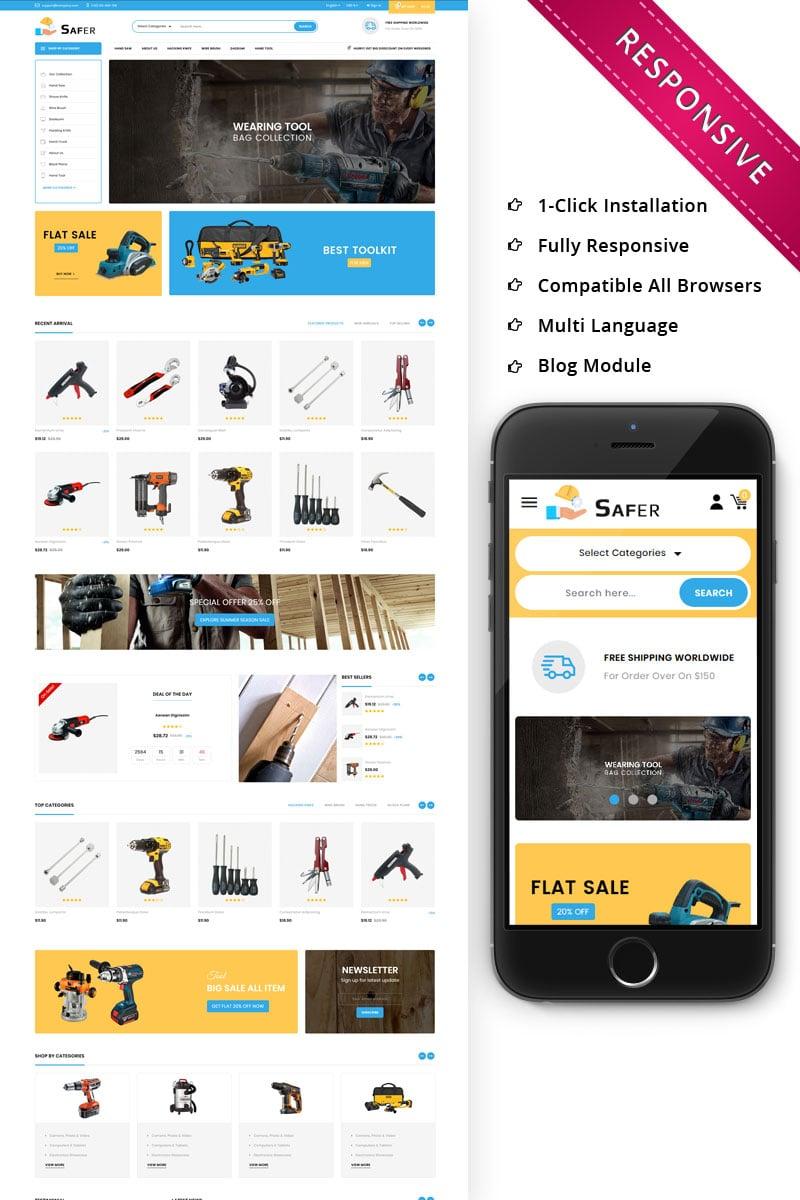 Bootstrap Safer - The Tool Store Responsive PrestaShop sablon 74753
