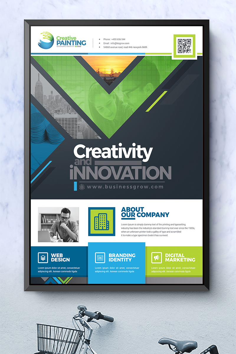 """Creative Business Flyer Design"" 奖金企业设计模板 #74795"