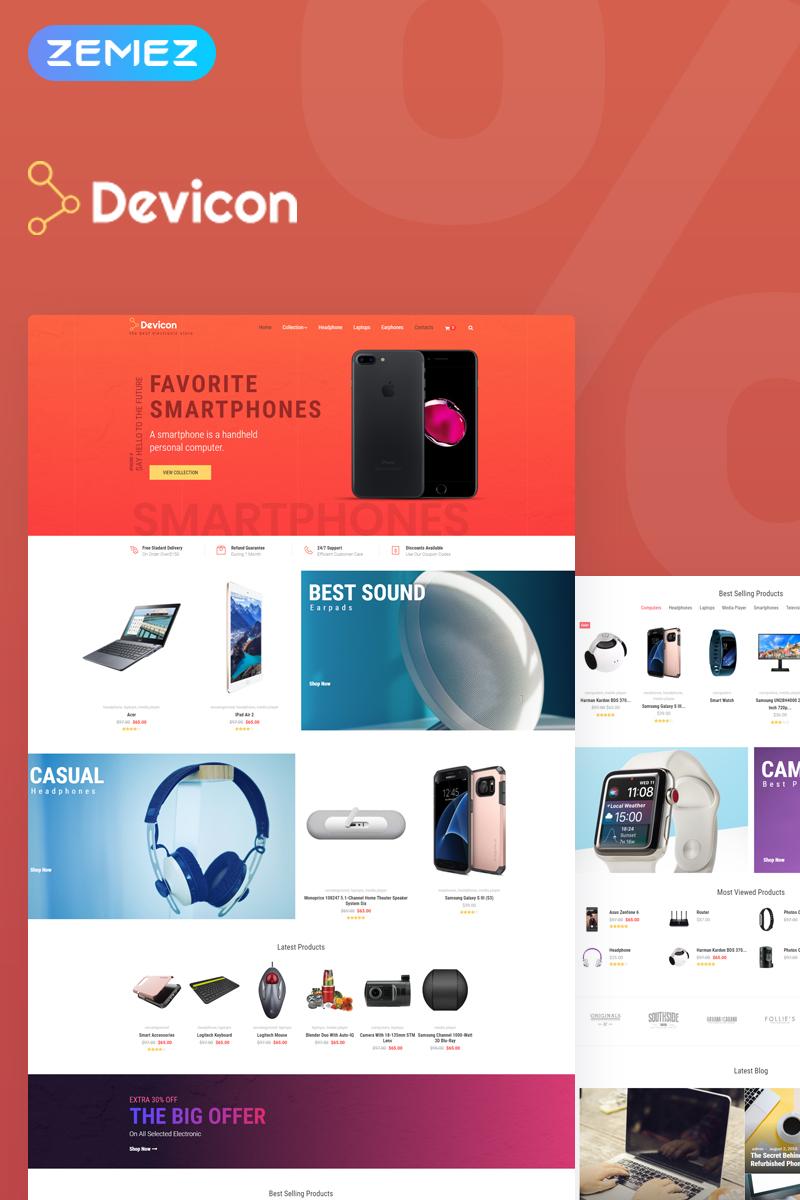 Devicon - Electronics Store Elementor №74772