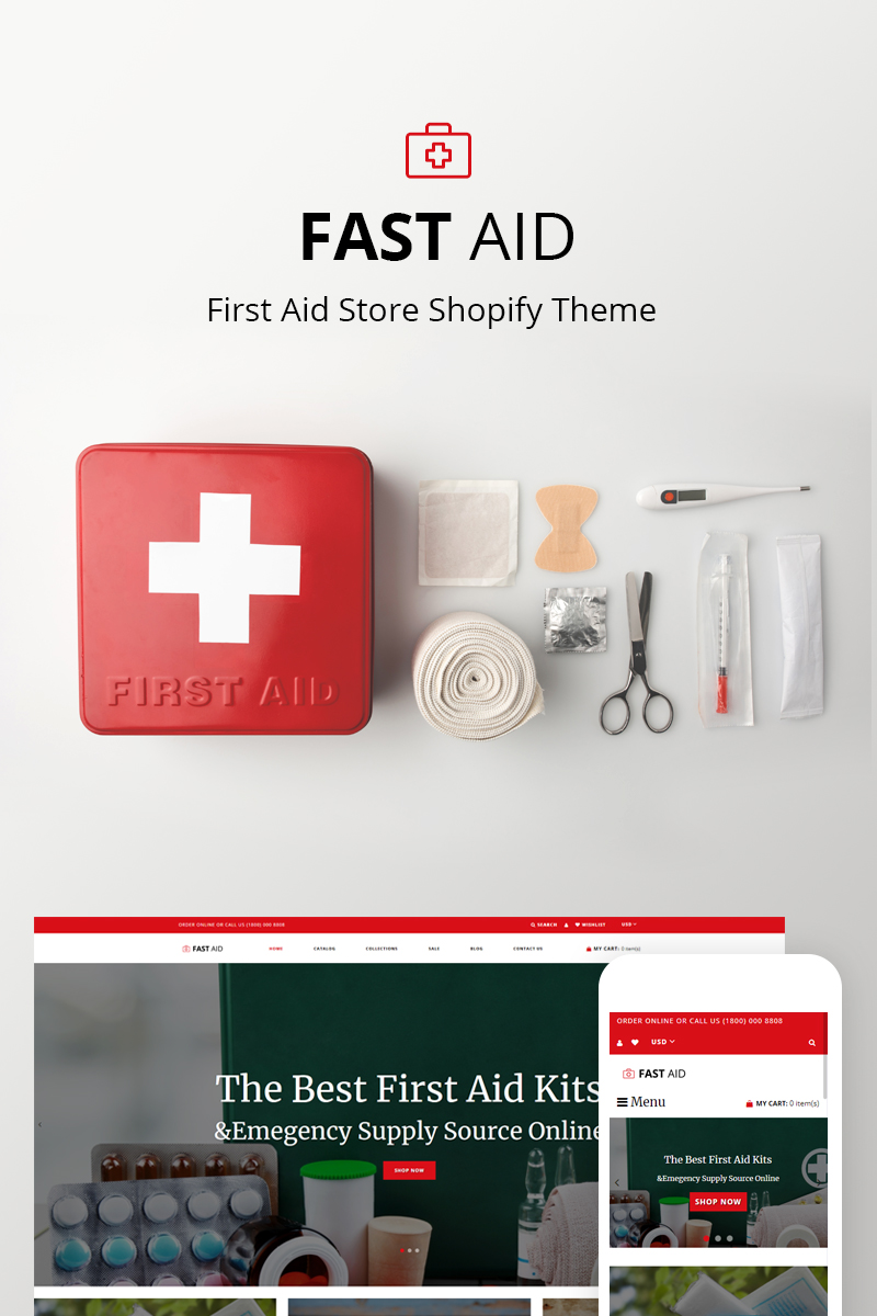 First Aid - Medical Shopify Theme