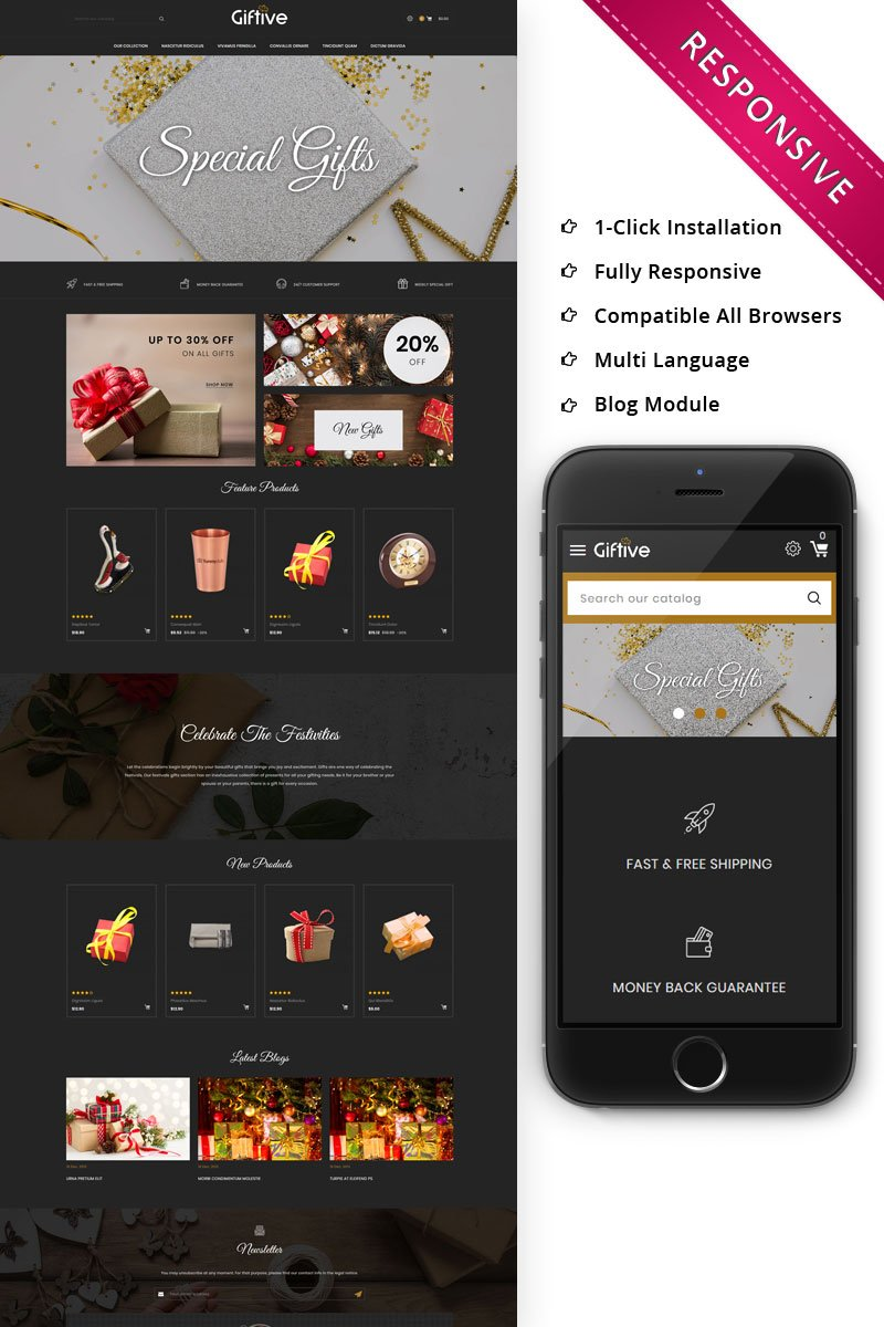 Giftive - The Gift Store Responsive PrestaShop Theme - screenshot