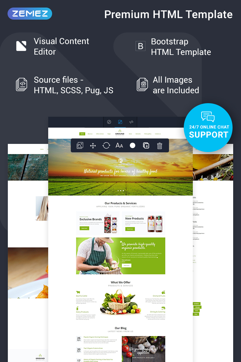 Ground - Agriculture Ready-to-Use Website Template - screenshot