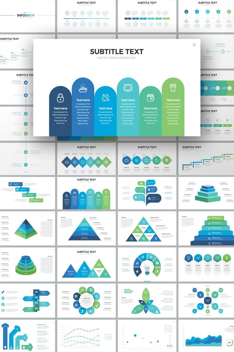 InfoShop-Infographic Presentation PowerPoint sablon 74717
