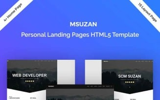 Msuzan - Personal Landing Page Template
