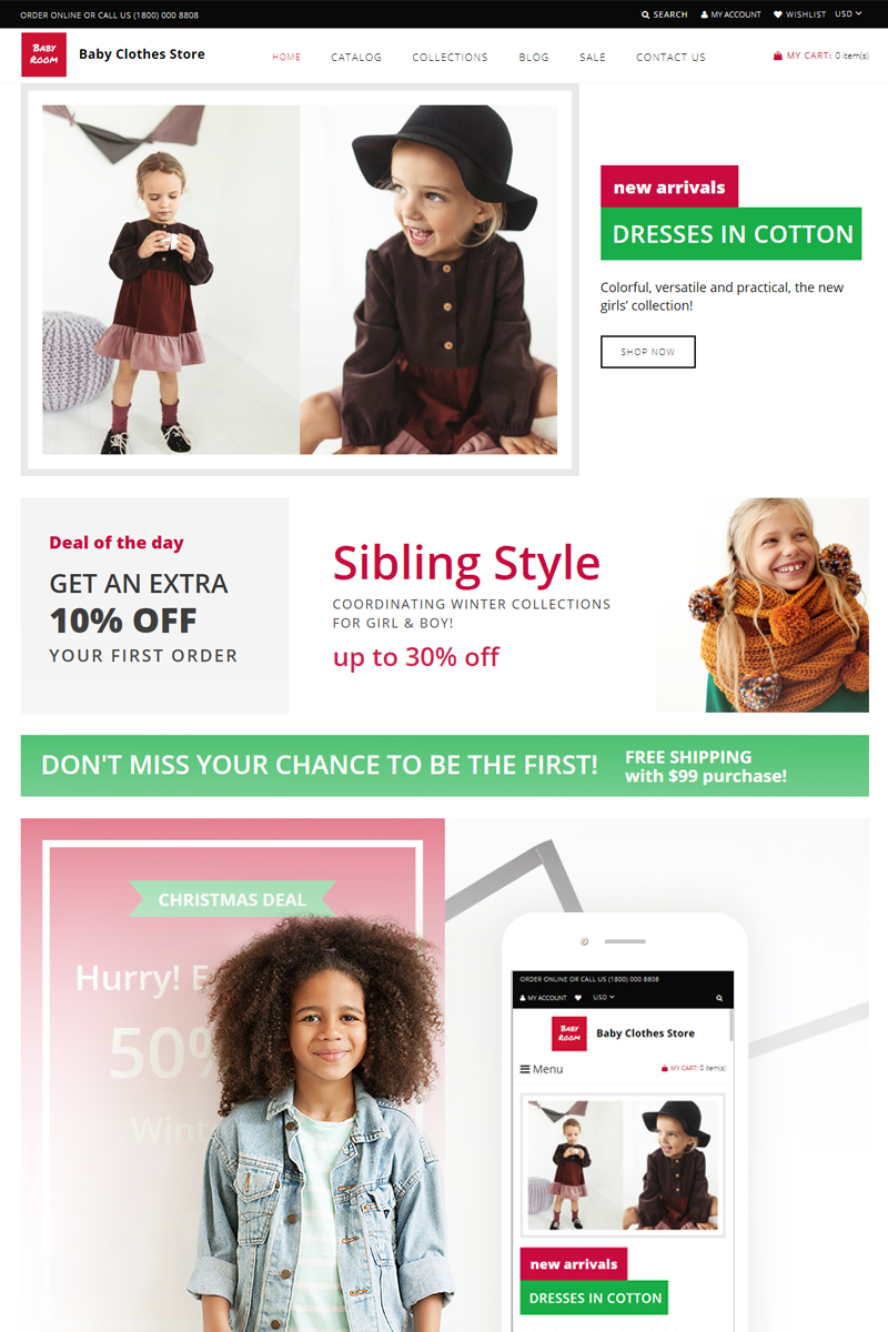 Responsywny szablon Shopify Baby Boom #74760