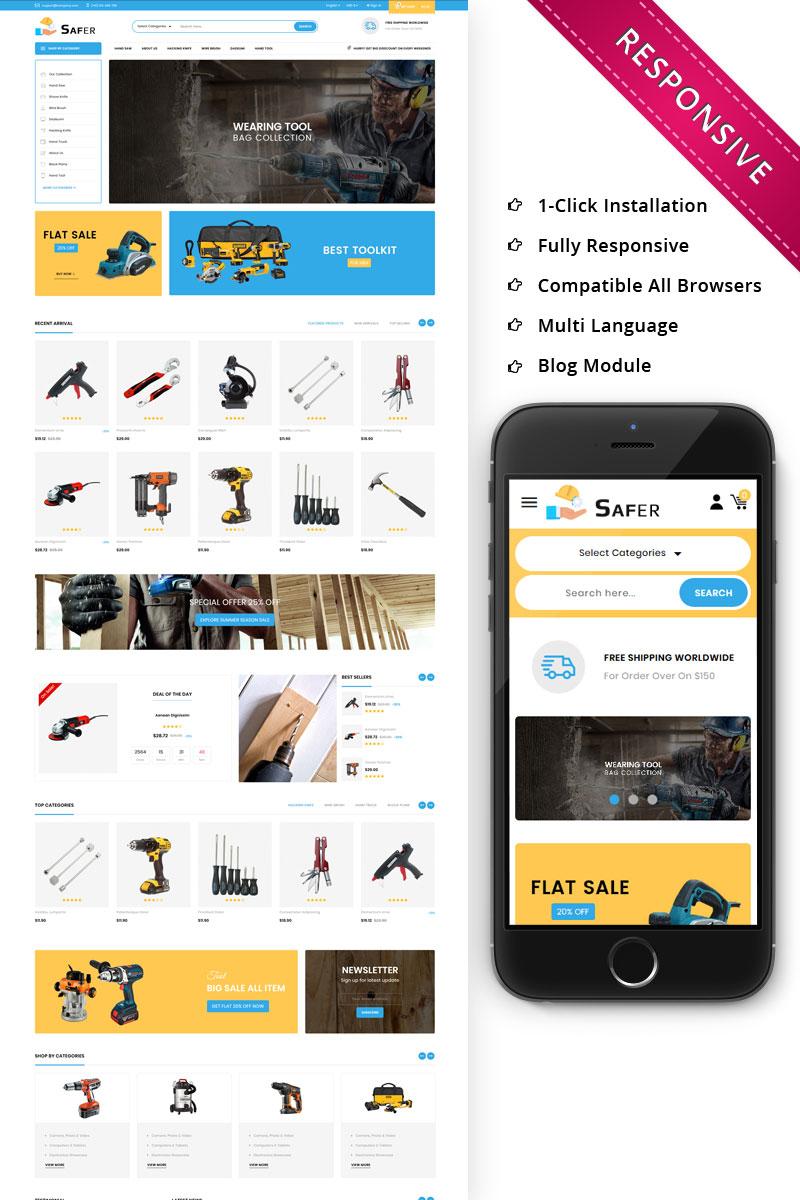 """Safer - The Tool Store Responsive"" thème PrestaShop Bootstrap #74753"