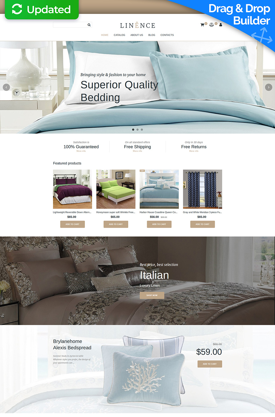 Website Design Template 74816 - store online ecommerce comforter set sets sheets covers luxury cotton wholesale satin fabric material