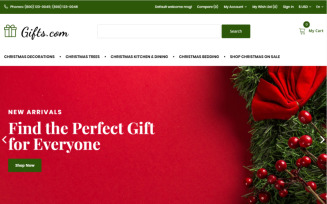 Gifts.com - Christmas Presents Shop OpenCart Template