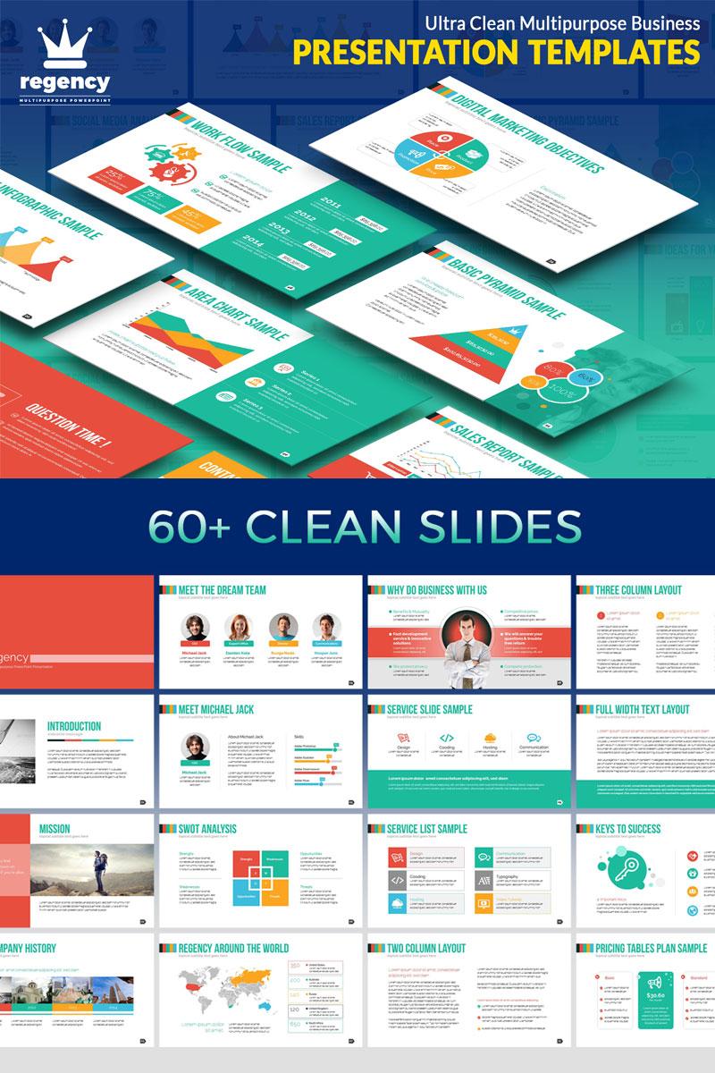 Clean Business Presentation PowerPoint sablon 74884 - képernyőkép