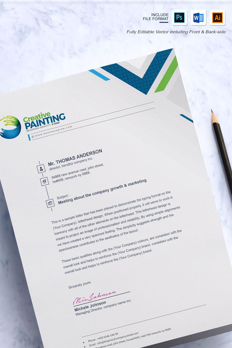 Clean Word Letterhead Corporate Identity Template