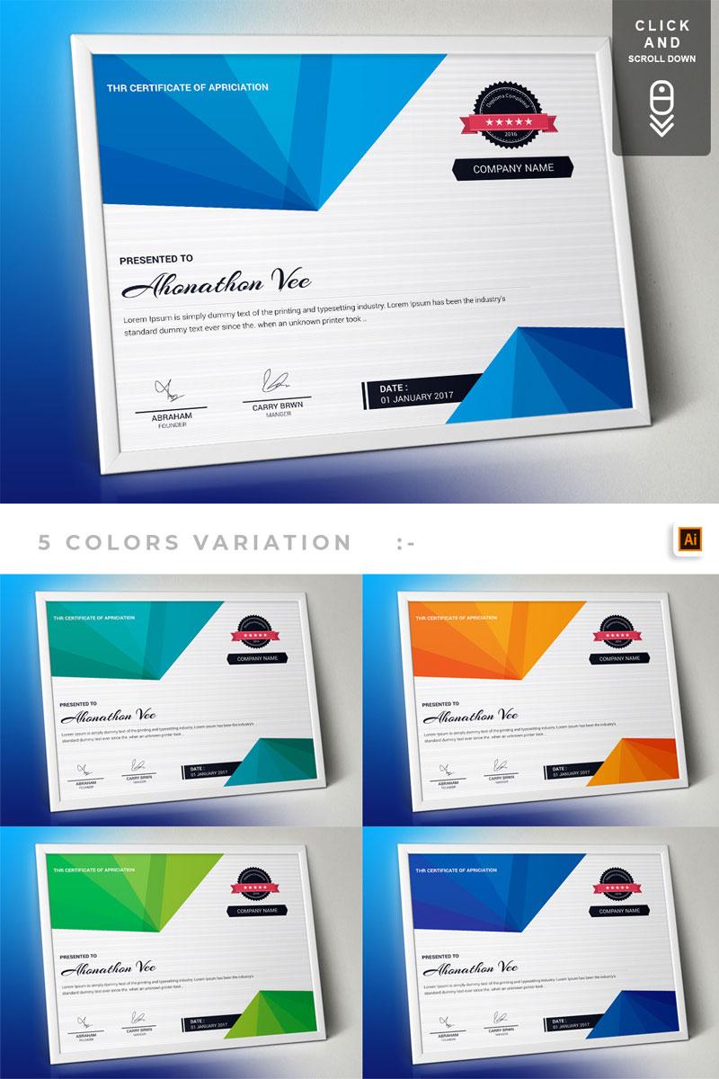 Corporate & Modern | Vol. 01 Certificate Template - screenshot