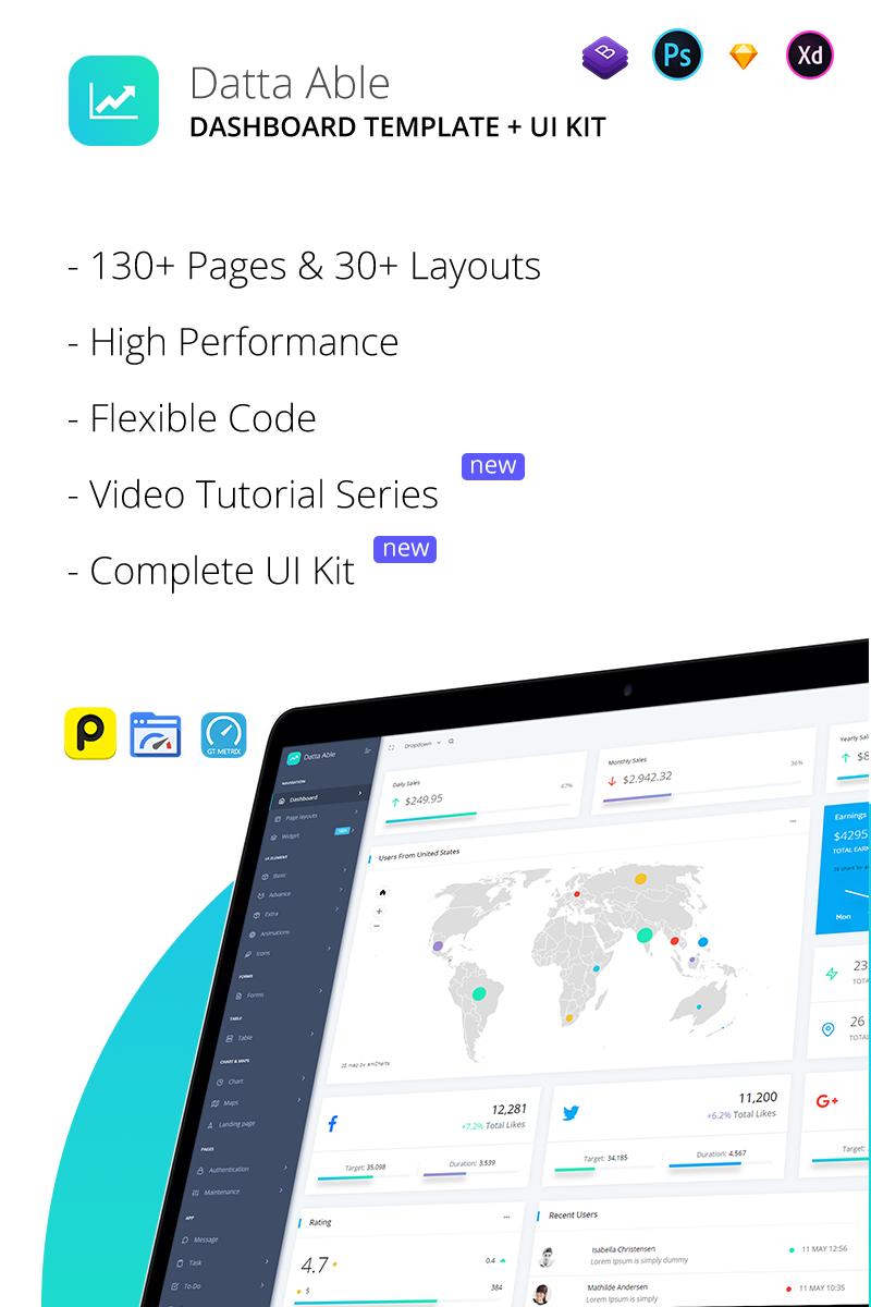 Datta Able Bootstrap Template para Administração №74805