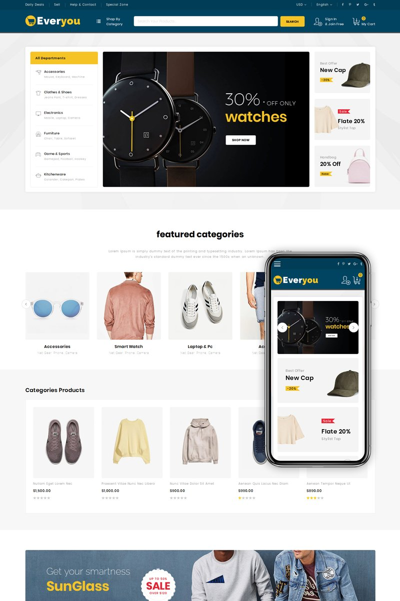 Everyou - Multipurpose Mega Store Magento Theme
