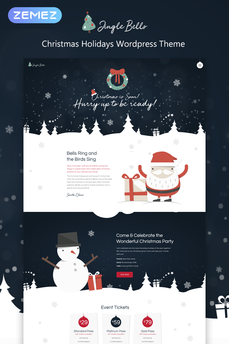 Jingle Bells - Christmas Holidays Elementor WordPress Theme
