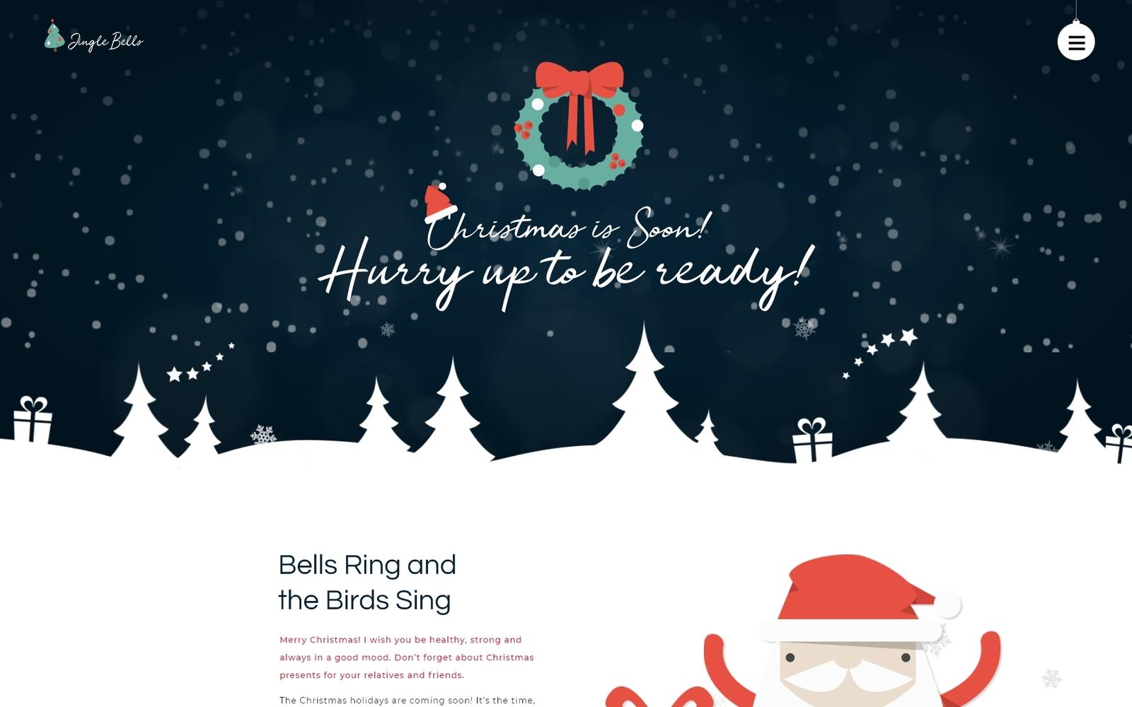 """Jingle Bells - Event Making Holiday Party Website"" - адаптивний WordPress шаблон №74802"