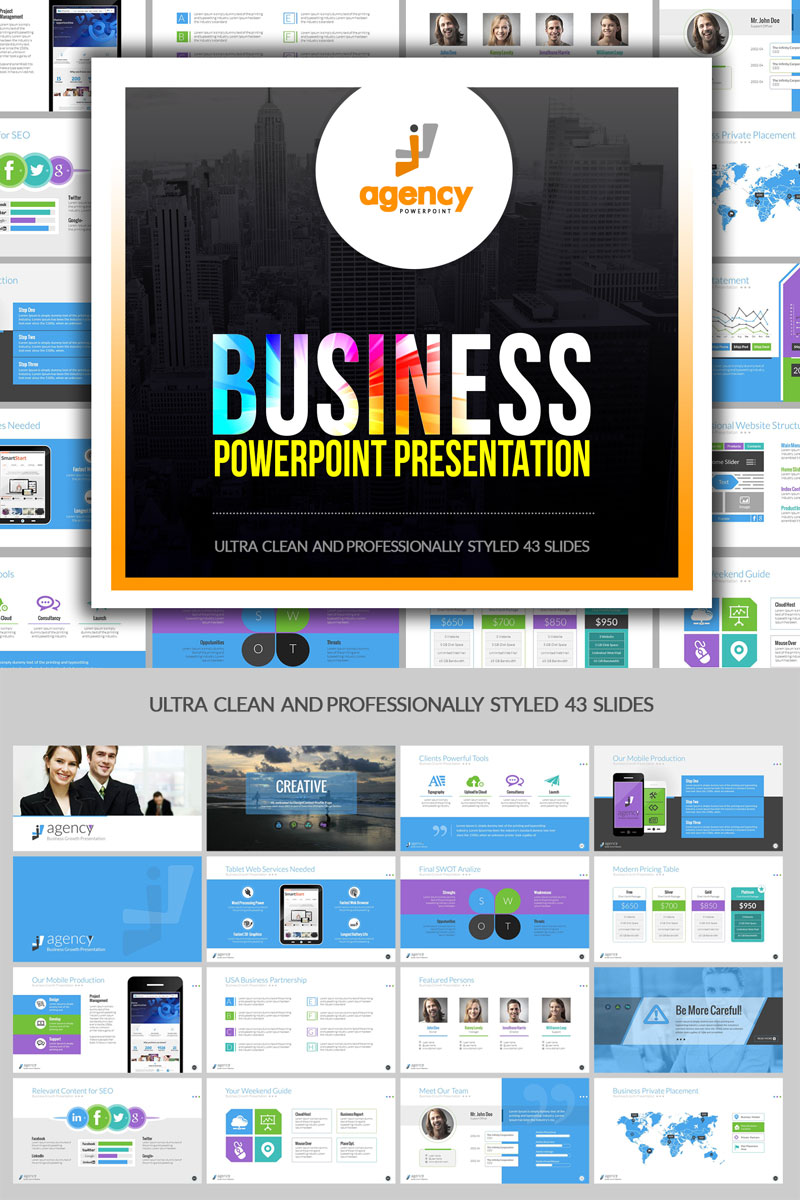 Multipurpose Business Presentation PowerPointmall #74885 - skärmbild