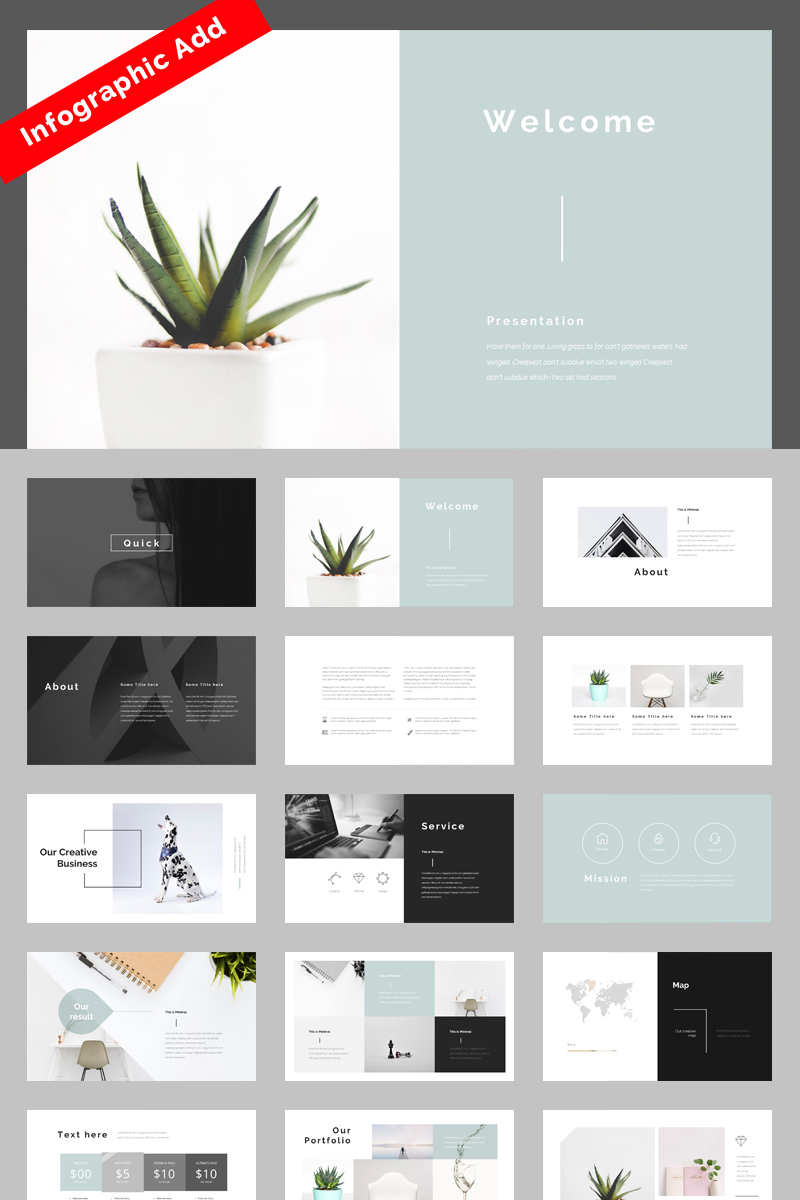 """Multipurpose"" PowerPoint Template №74857"