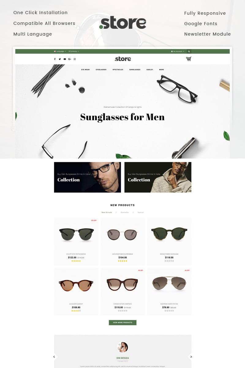 "OpenCart Vorlage namens ""Eye Wear - Glasses Store"" #74886 - Screenshot"