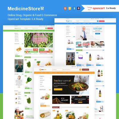 Responsive OpenCart Vorlage für Lebensmittelgeschäft