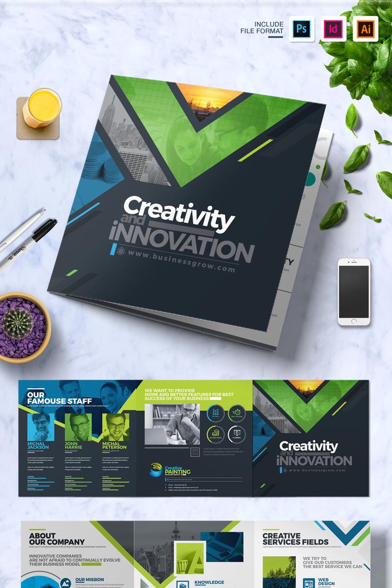 "Plantilla De Identidad Corporativa ""CreativePainting Tri-fold Brochure"" #74834 - captura de pantalla"