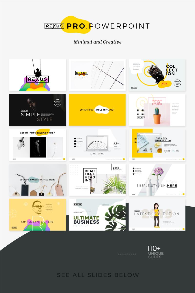 """Plantilla PowerPoint """"Rexus Pro Minimal & Creative"""" #74839"""